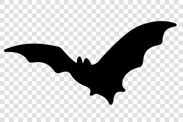 Halloween bat. Halloween decoration. Black bat silhouette.
