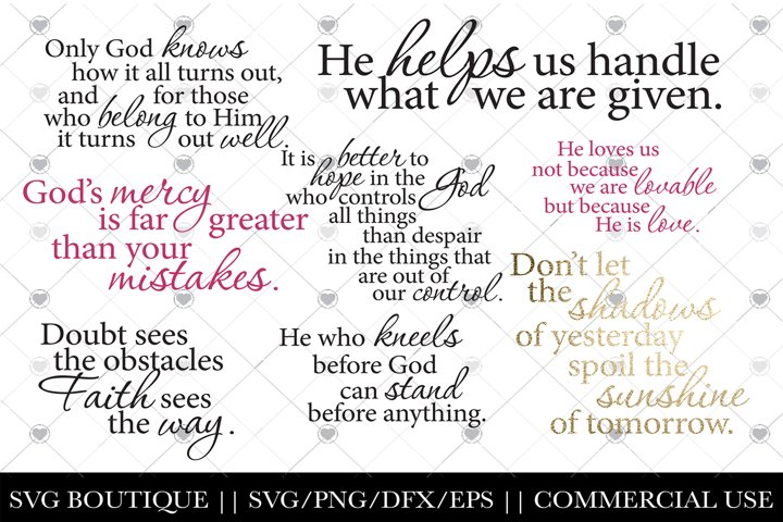 Christian SVG Bundle - 10 Scripture/Jesus Digital Files