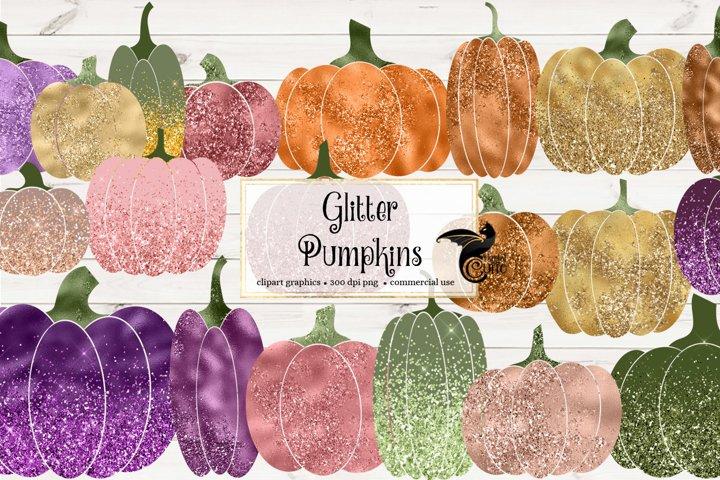 Glitter Pumpkin Clipart