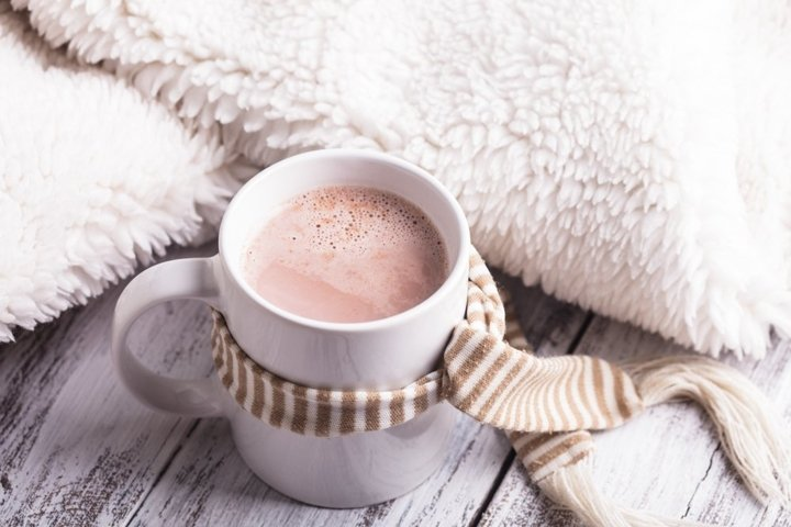 Warming drink - cup of cocoa