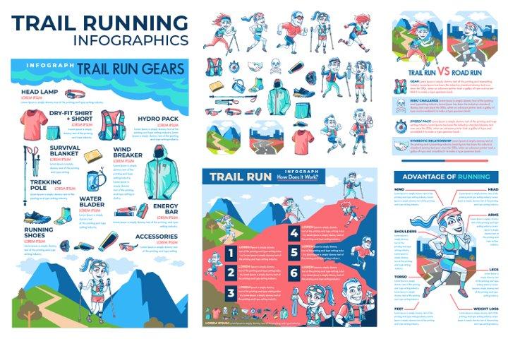 Trail Running Infographics