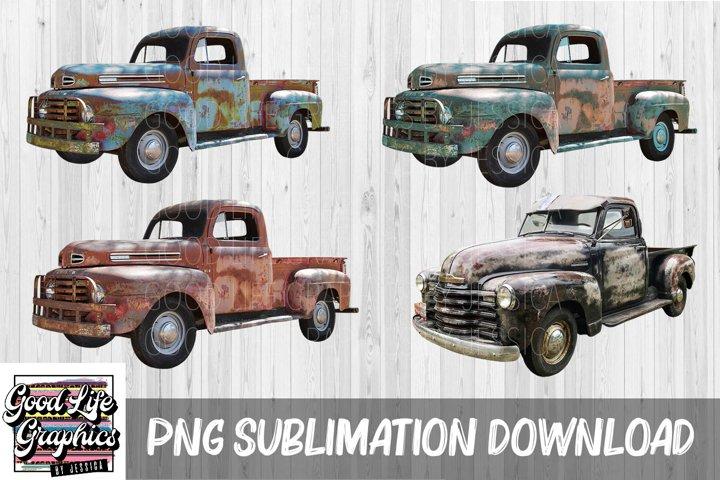 Sublimation Designs for t shirts-Vintage trucks