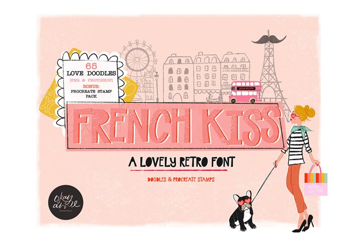 French Kiss - A Retro Font