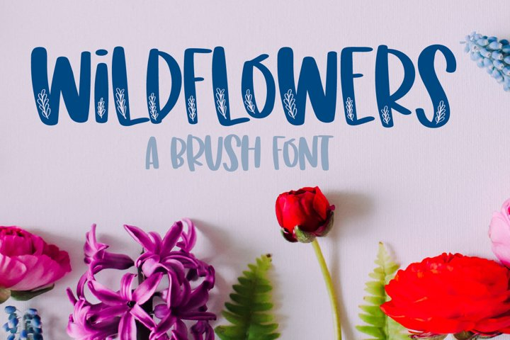 Wildflowers - A Clean Floral Brush Font