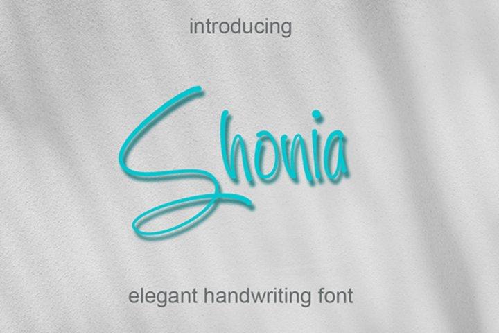 Shonia - Handwritten Font with alternate