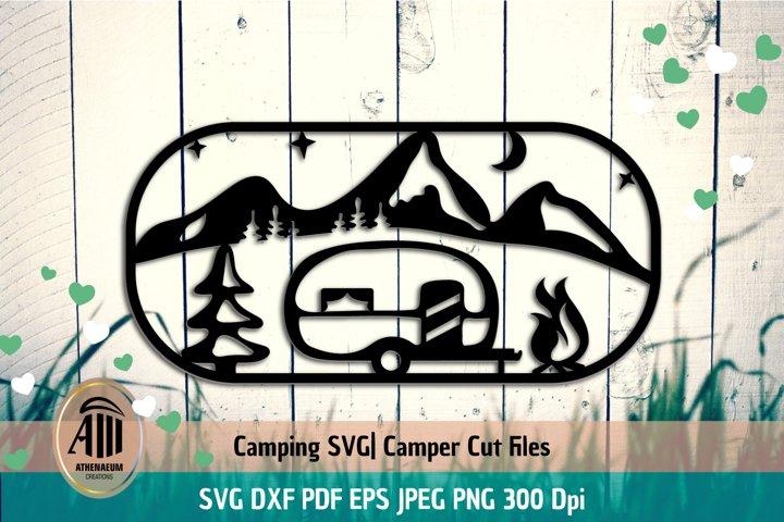 Camper SVG|Camping SVG|Camper Cut Files|Camping Silhouette