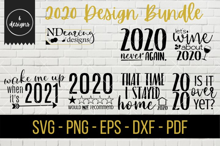 2020 Design Bundle Digital SVG Cut File COVID New Year