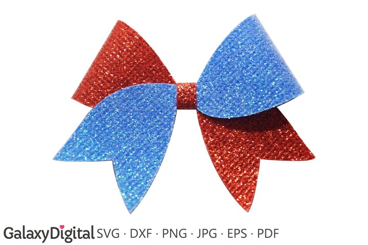 Hair Bow SVG, Cheer Bow Template SVG