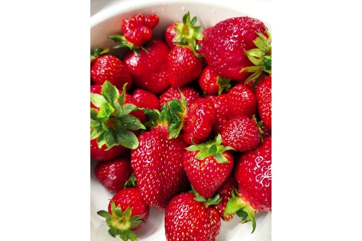 Sweet ripe red strawberry berry fruit summer background