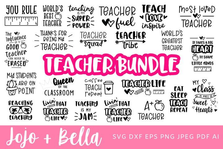 Teacher SVG Bundle - 25 Designs