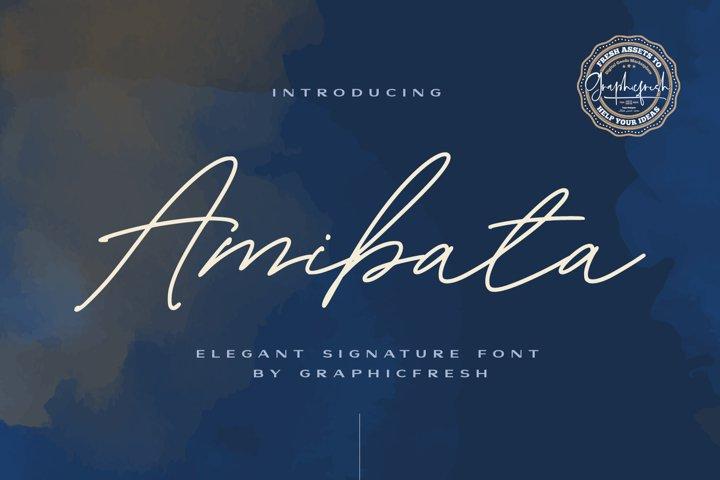 Amibata - Elegant Signature Font