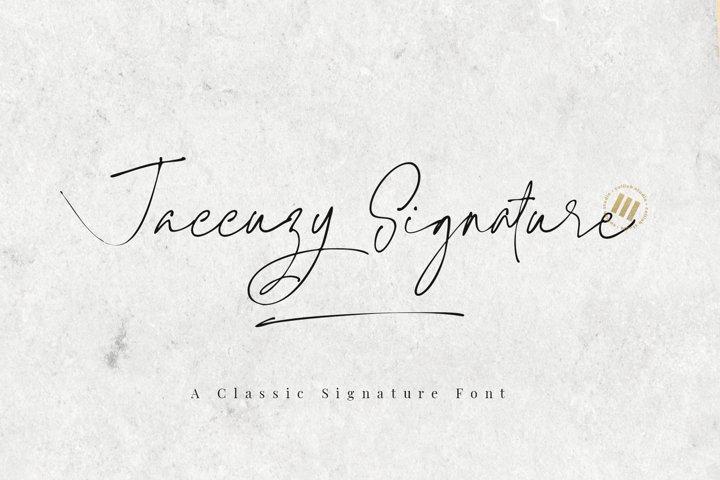 Jaccuzy Signature - A Signature Font