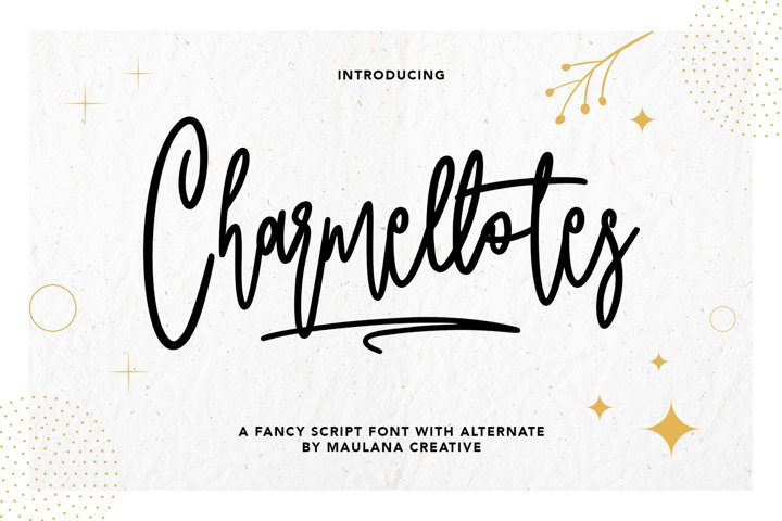 Charmellotes Fancy Script Font With Alternate