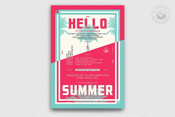 Summertime Flyer Template V4
