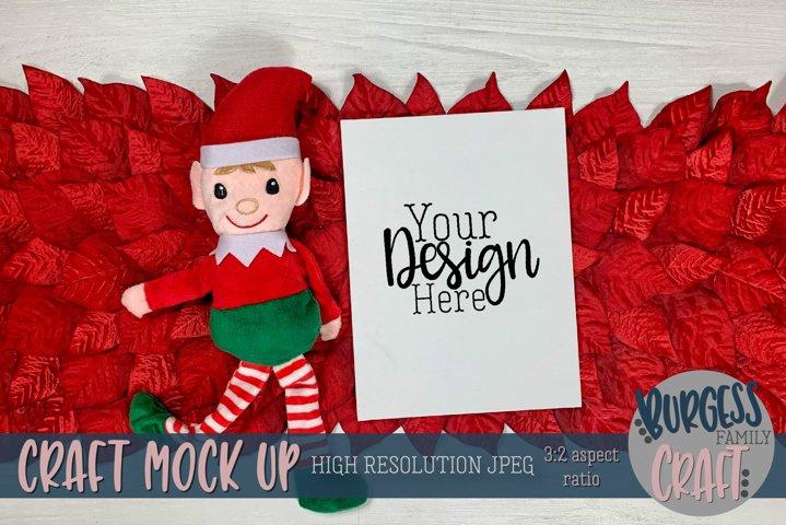 Christmas elf with vertical certificate II |Craft mock up