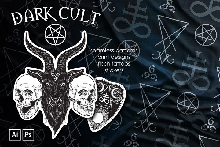 Dark Cult illustrations commercial use