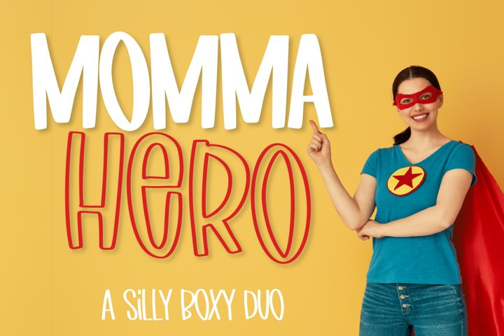 Momma Hero - A Font Duo