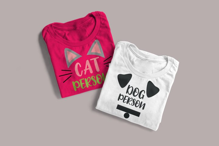 Cat Person and Dog Person Duo SVG Design