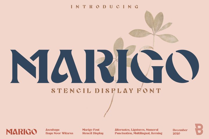 Marigo - Stencil Display Font
