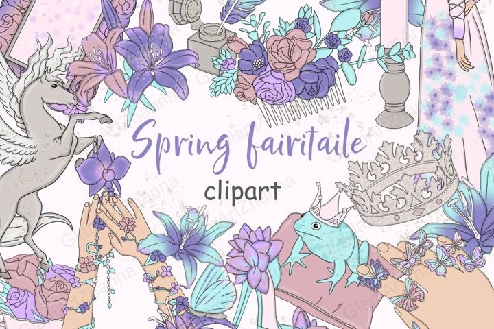 Spring Fairytale CLIPART Magic Fantasy Weekly Sticker - PNG