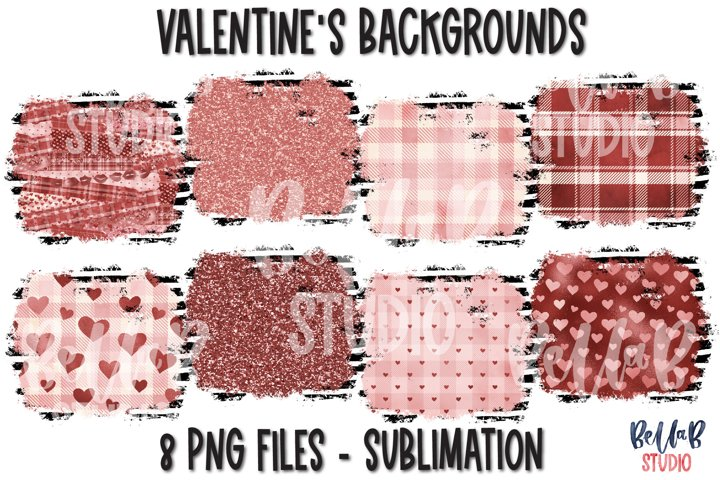 Valentines Sublimation Background Bundle