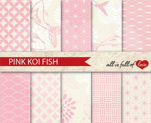 Japanese Backgrounds Baby Pink Digital Graphics