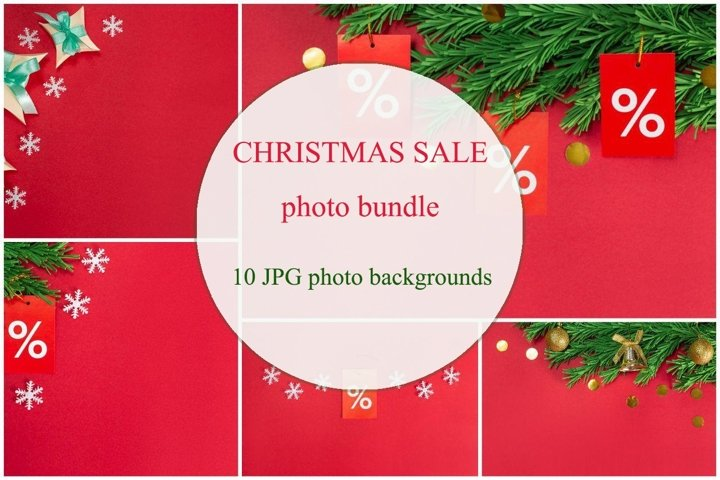 10 Christmas, winter sale photo bundle