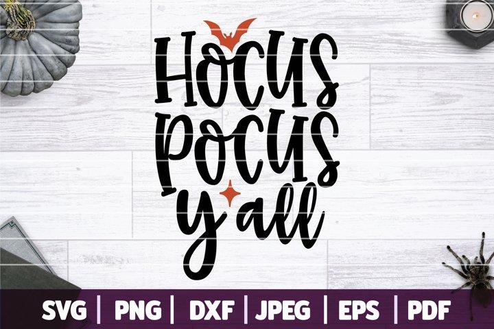 Hocus Pocus Yall SVG, Southern Halloween SVG Cut File