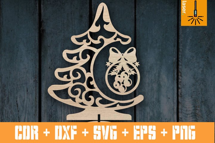 Christmas tree sign for Laser | Cnc vector Christmas tree