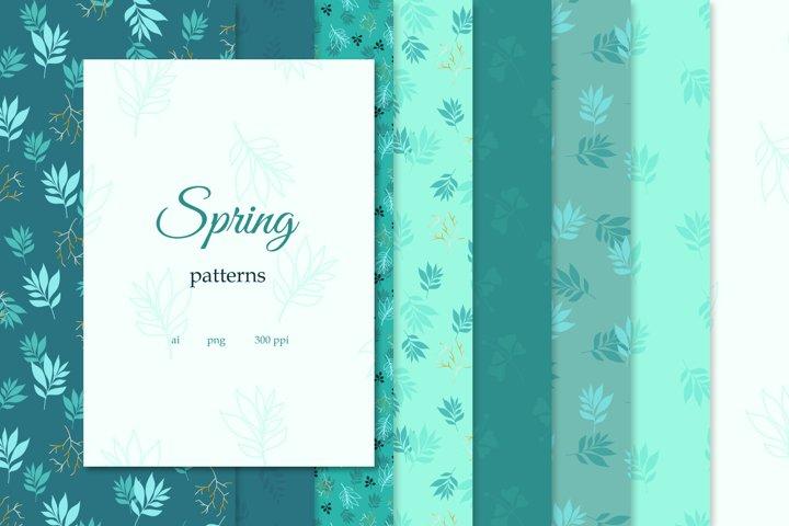 Set of 8 Spring patterns