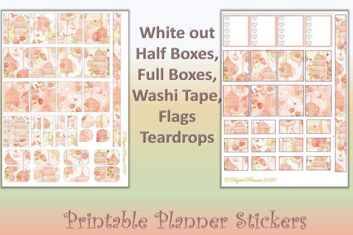 Planner Stickers Orange Blossom 4 Sheets 200 stickers JPEG