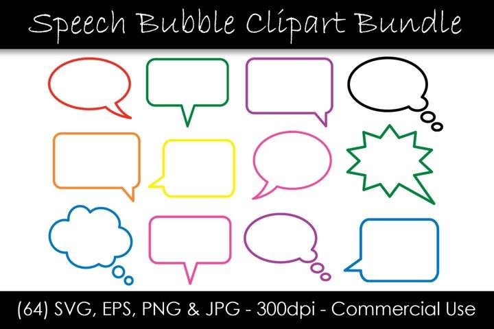 Speech Bubble SVG Bundle - Outline Comic Speech Bubbles