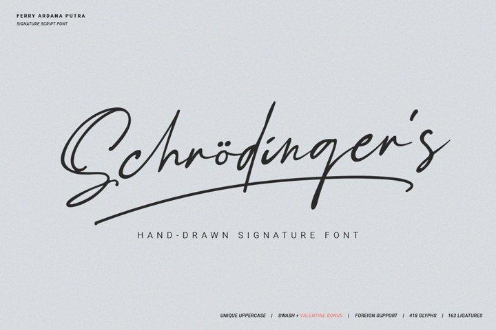 Schrödingers   Signature Font