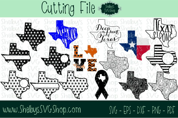 Texas SVG Cutting file set of 16 - ONLY $5.99!
