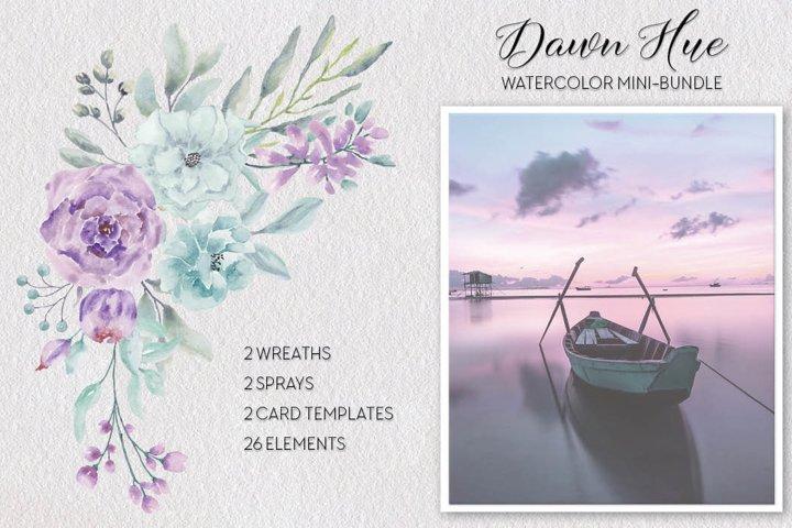 Dawn Hue watercolor mini-bundle