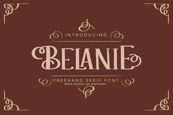 Belanie   Freehand Serif Font