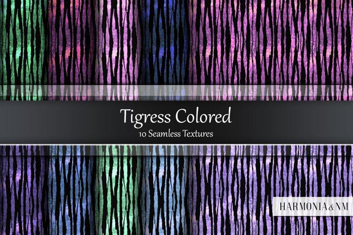 Tigress Colored 10 Seamless Textures