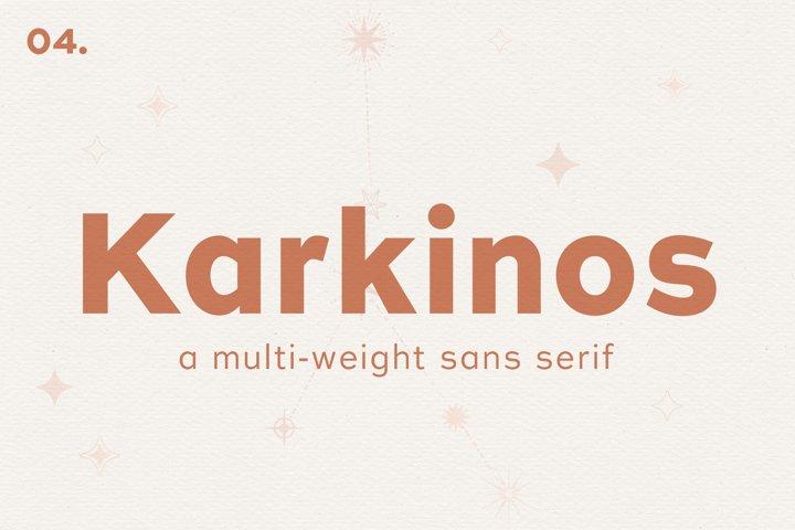 Karkinos // A Multi-Weight Sans Serif