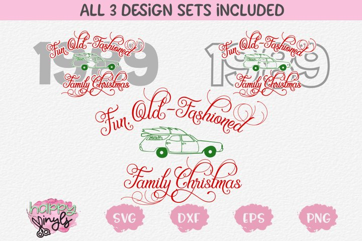 Fun Old-Fashioned Family Christmas - A Christmas SVG