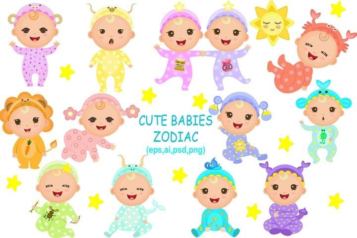 Cute Babies Zodiac
