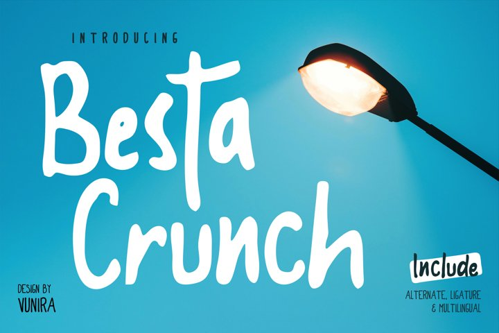 Besta Crunch | Decorative Font
