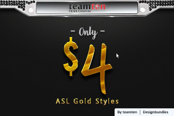 Gold style Photoshop ASL
