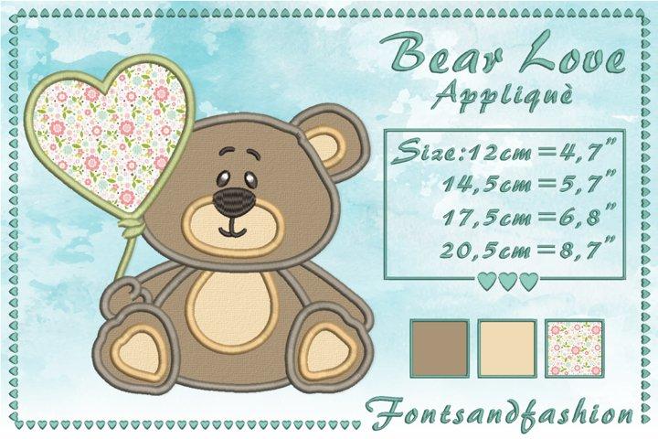 Bear Love_Appliquè