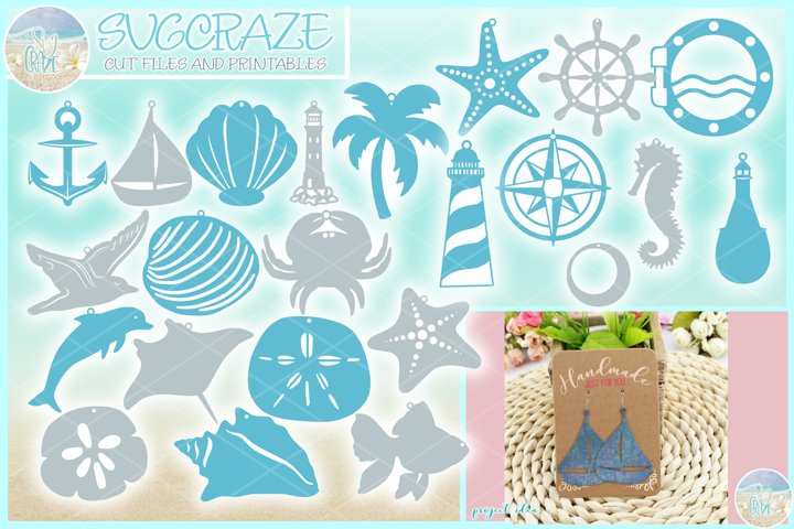 Nautical Faux Leather Earring SVG Bundle | Jewelry SVG files