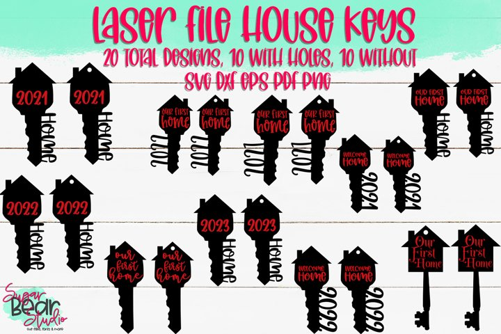House Keys Bundle - A Laser Cutting File Bundle of 20 Files