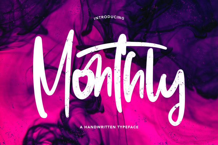 Monthly - Handwritten Typeface Font