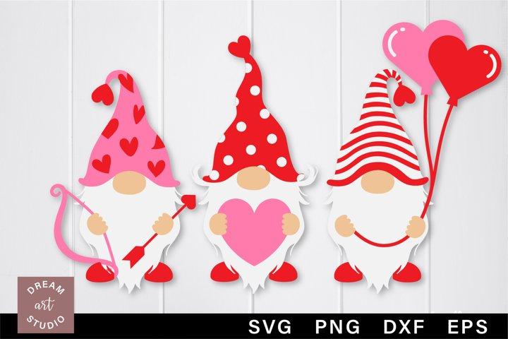 Valentine Gnomes svg png Gnomies svg Gnomes cut file