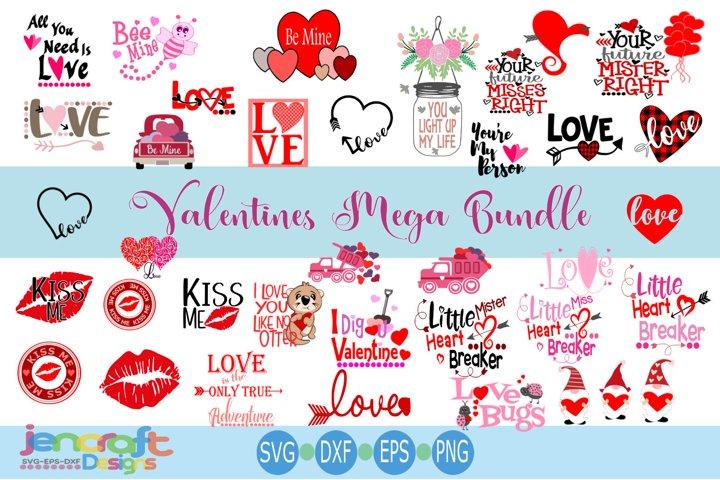 Valentine Bundle Valetines day Mega Bundle SVG Cut Files