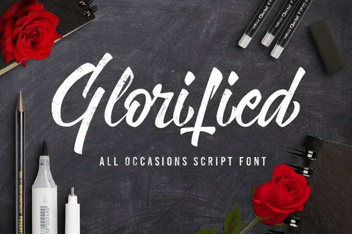 Glorified Script Font - Free Font of The Week Font