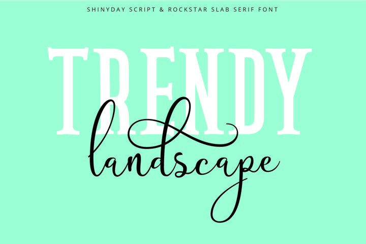 Shinyday & ROCKSTAR font duo - Free Font of The Week Design1